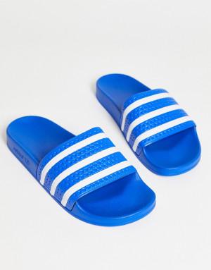 Голубые шлепанцы adidas Originals adilette-Голубой
