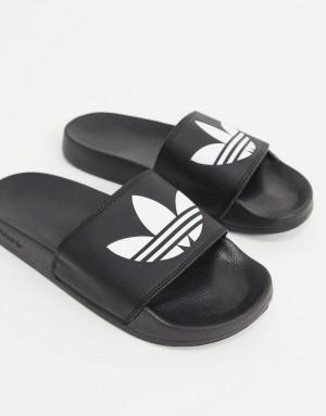 Черные шлепанцы adidas Originals adilette-Черный